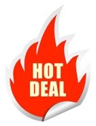 Hot deal sticker